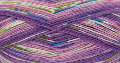 KING COLE ZIGZAG 4PLY SOCK WOOL 100 GRAM BALL - PURPLES