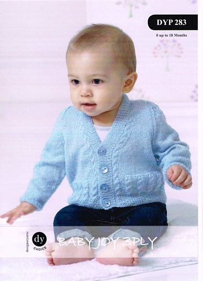 BABIES 3PLY CARDIGAN AND WAISTCOAT KNITTING PATTERN DYP283