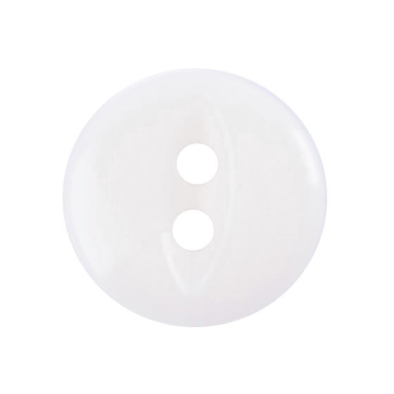 10 X FISHEYE BUTTONS 11MM WHITE (G033918/101)