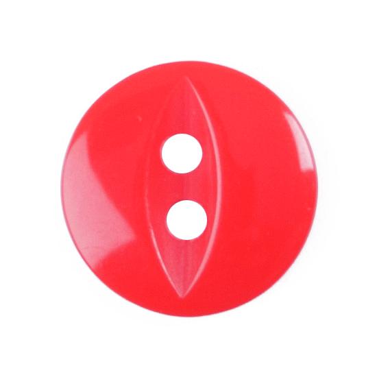 10 X FISHEYE BUTTONS 11MM RED (G033918/108)