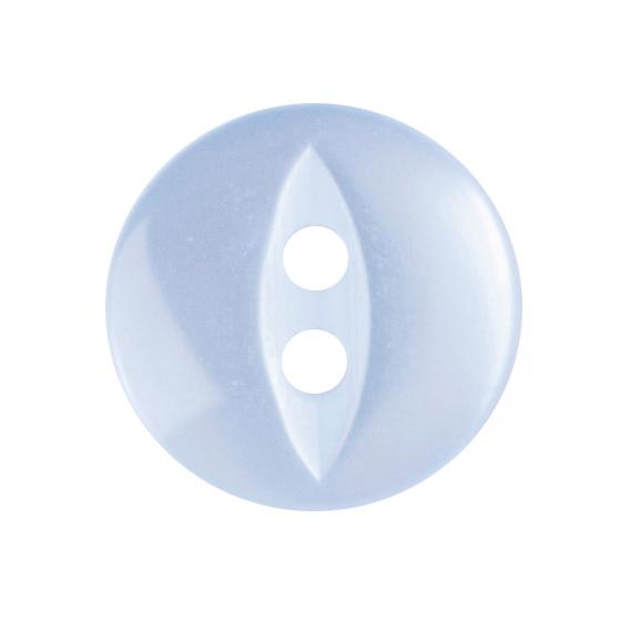 10 X FISHEYE BUTTONS 11MM LIGHT BLUE (2G033918/15)