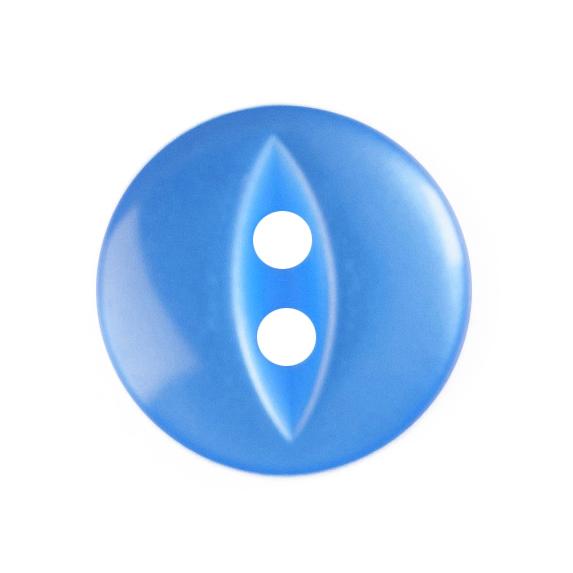 10 X FISHEYE BUTTONS 11MM ROYAL BLUE (G033918/90)