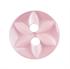 10 X STAR 2 EYE BUTTONS 11MM PINK (G203218/7)