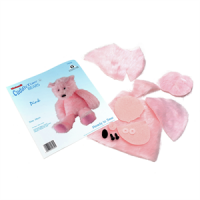 COMPLETE PINK BEAR SEWING KIT