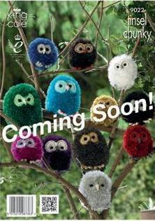 KING COLE TINSEL OWL PATTERN 9022