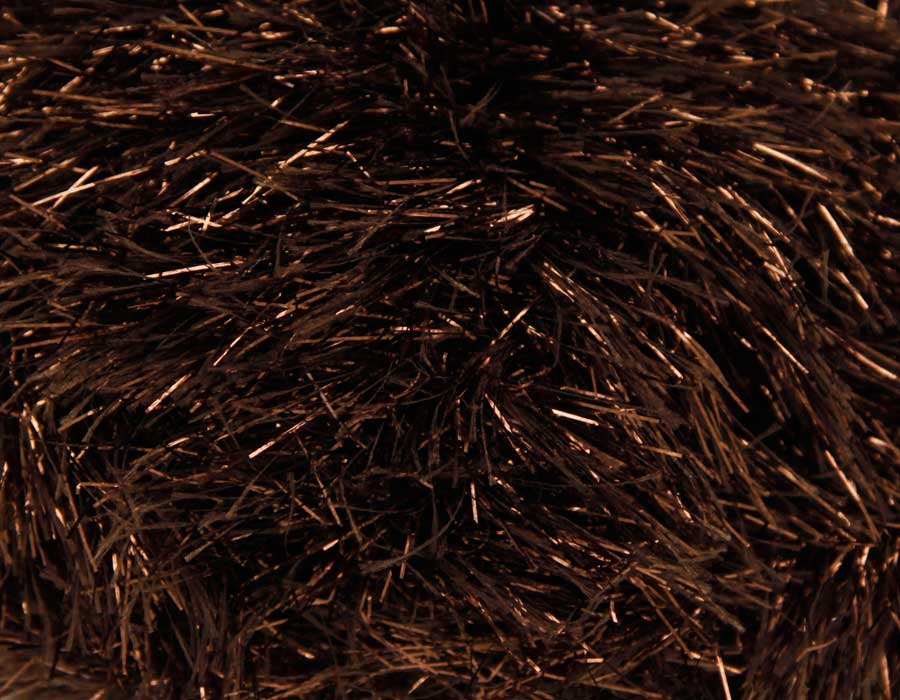 KING COLE TINSEL CHUNKY 50 GRAM BALL COPPER