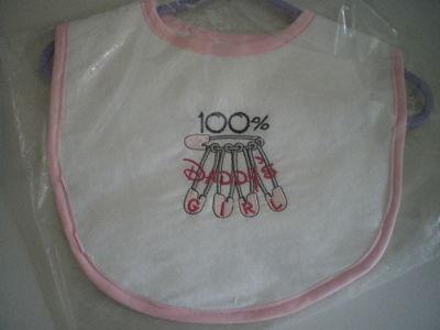 LOVELY HANDMADE 100% DADDY'S GIRL BABY BIB
