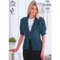 KING COLE CARDIGAN AND TOP KNITTING PATTERN 3932