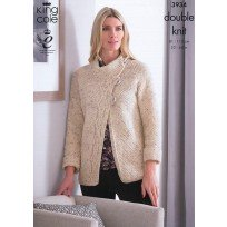 KING COLE LADIES JACKET AND JUMPER KNITTING PATTERN DK 3934