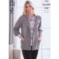 KING COLE LADIES JACKET AND JUMPER KNITTING PATTERN 3935