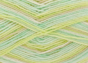 KING COLE BIG VALUE BABY PRINT 4PLY 100 GRAM BALL GOOSEBERRY