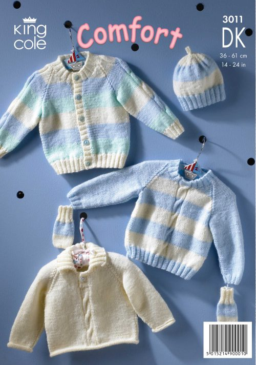 KING COLE BABY DOUBLE KNIT PATTERN (3011)