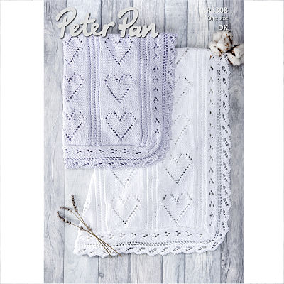 PETER PAN BABIES BLANKET KNITTING PATTERN (P1308)
