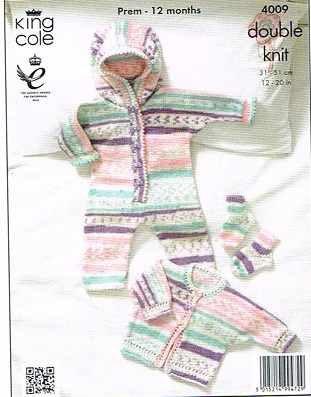 KING COLE CHERISH DK KNITTING PATTERN 4009