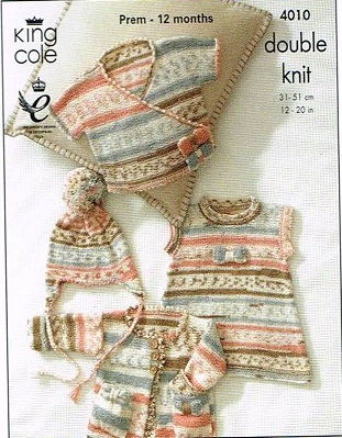 KING COLE CHERISH DK KNITTING PATTERN 4010