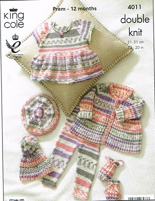 KING COLE CHERISH DK KNITTING PATTERN 4011