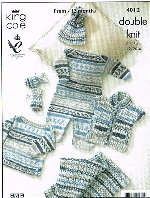 KING COLE CHERISH DK KNITTING PATTERN 4012
