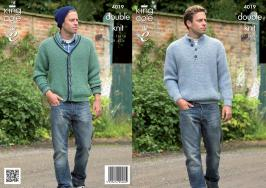 KING COLE MENS DK JUMPER KNITTING PATTERN 4019