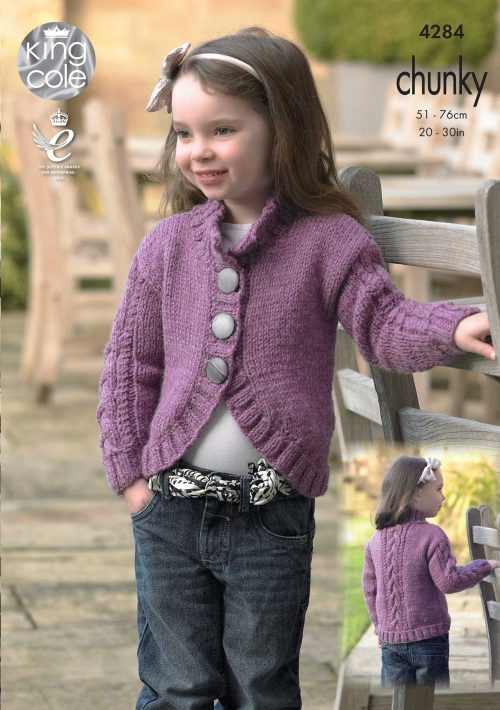 450783db8c7e KING COLE CHUNKY CHILDRENS KNITTING PATTERN (4284)