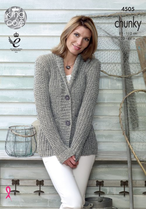 KING COLE LADIES AUTHENTIC CHUNKY KNITTING PATTERN (4505)
