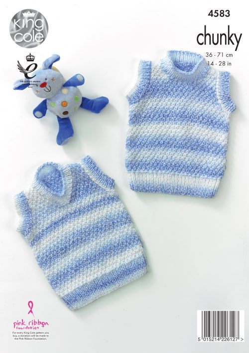 KING COLE KNITTING PATTERN 4583