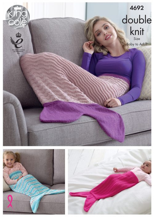 KING COLE MERMAID TAIL KNITTING PATTERN 4692