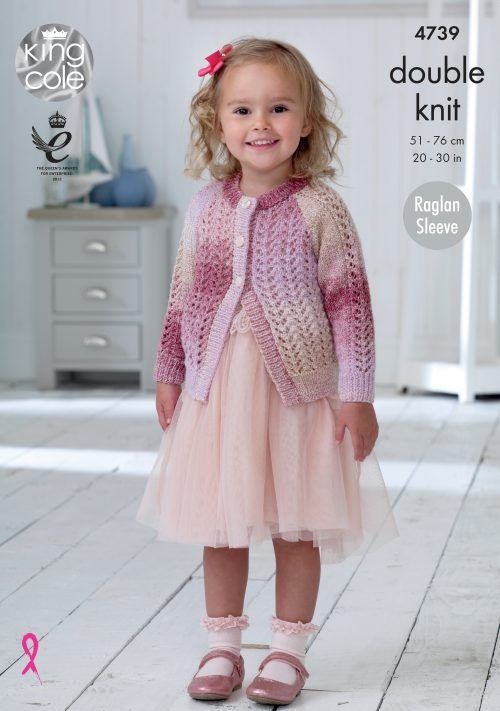 KING COLE KNITTING PATTERN 4739