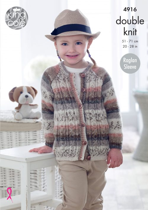KING COLE CHILDRENS DOUBLE KNITTING PATTERN (4916