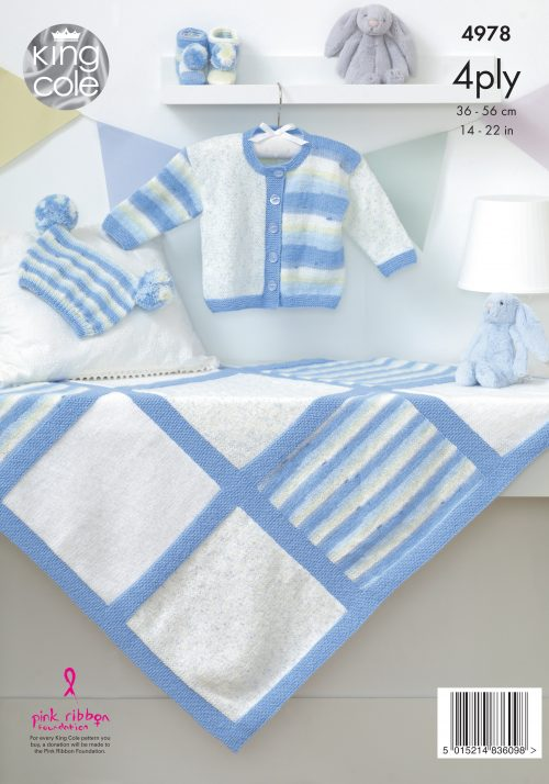 KING COLE BABY 4PLY KNITTING PATTERN (4978)