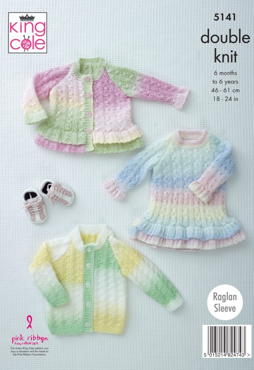 NEW OUT KING COLE MELODY DK KNITTING PATTERN (5141)