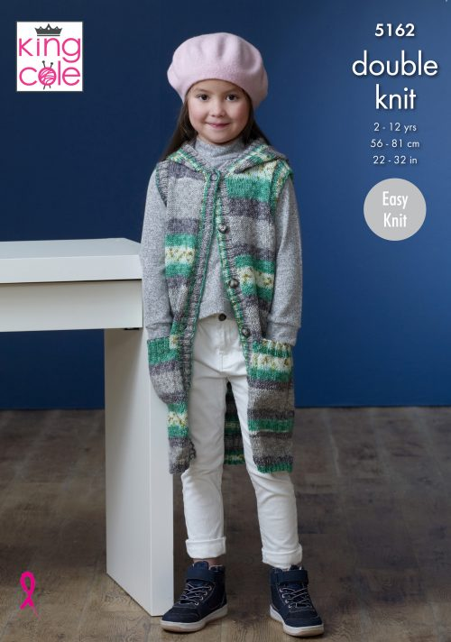NEW OUT KING COLE SPLASH CHILDRENS KNITTING PATTERN (5162)