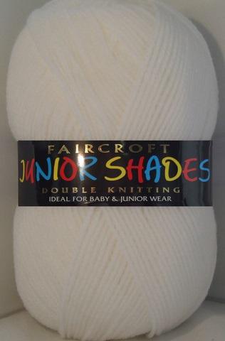 WOOLCRAFT FAIRCROFT BABY DK 500 GRAM BALL WHITE