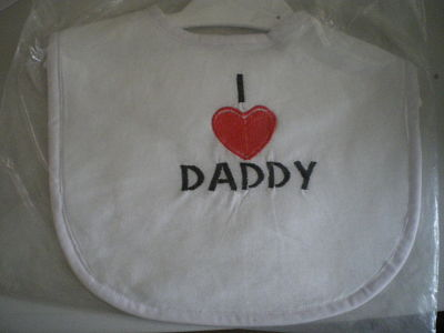 LOVELY HANDMADE I LOVE DADDY BIB