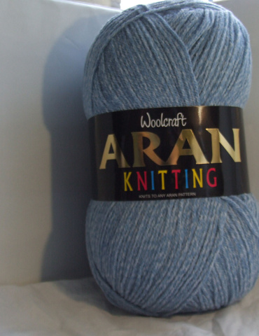 WOOLCRAFT ARAN WITH WOOL 400 GRAM BALLS DENIM(810)