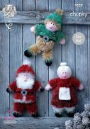 NEW OUT KING COLE TINSEL CHUNKY CHRISTMAS PATTERN 9029