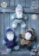 NEW OUT KING COLE TINSEL CHUNKY SANTA PATTERN 9031