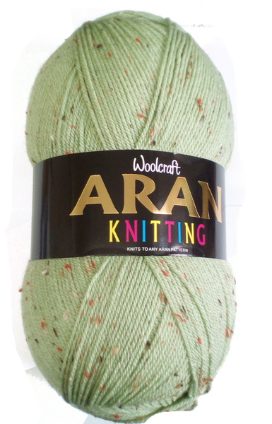 WOOLCRAFT ARAN WITH WOOL 400 GRAM BALL - SAGE TWEED (903)