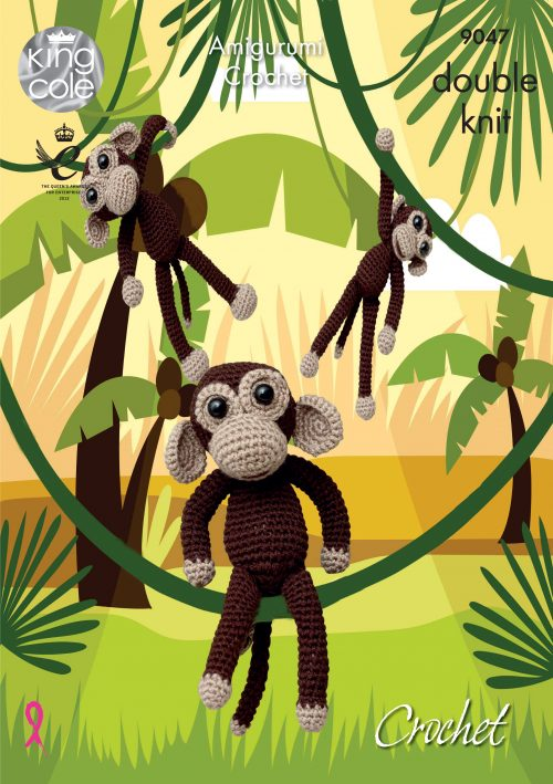 KING COLE CROCHET MONKEY PATTERN 9047