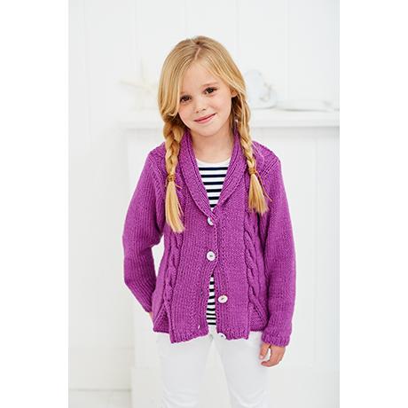 Stylecraft Girls Aran Knitting Pattern 9250