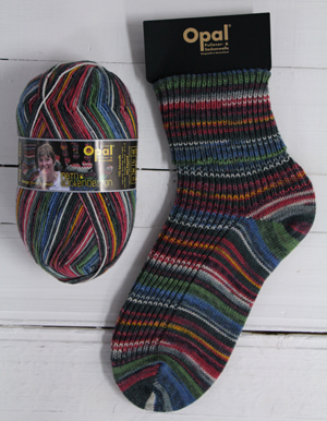 OPAL 4PLY SOCK WOOL MY SOCK DESIGN RAILROAD ROMANCE (9377)