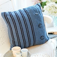 STYLECRAFT JEANIE DENIM LOOK KNITTING PATTERN CUSHIONS (9402)