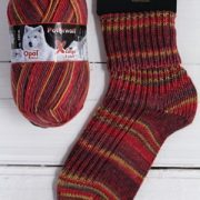 OPAL X-LARGE POLAR WOLF 8PLY SOCK WOOL RATTLING COLD(9435)