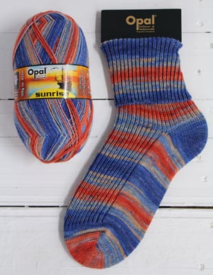 OPAL 4PLY SOCK WOOL SUNRISE 100 GRAM BALL POWERFUL HORIZON (9440)
