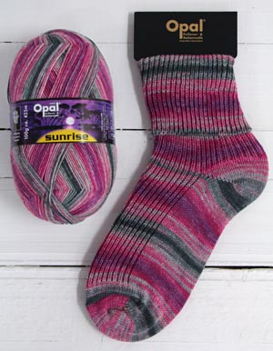 OPAL 4PLY SOCK WOOL SUNRISE 100 GRAM BALL DAWN (9441)