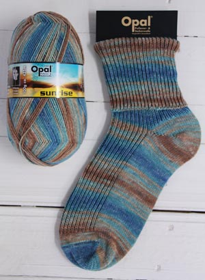 OPAL 4PLY SOCK WOOL SUNRISE 100 GRAM BALL BEAUTY OF THE SKY (9444)