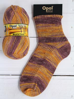 OPAL 4PLY SOCK WOOL SUNRISE 100 GRAM BALL COURAGE OF MORNING SUN (9445)
