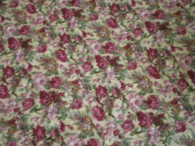ROSE POLY COTTON FABRIC - 44 INCHES WIDE - PRICE PER METER