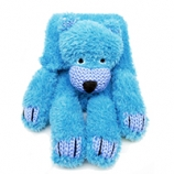 WENDY FOUR LEGGED FRIENDS CHUNKY BEAR SCARF KIT BLUE