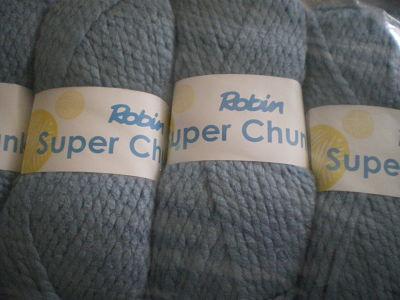 ROBIN SUPER CHUNKY 100 GRAM BALL - BLUE MIST