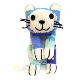 WENDY FOUR LEGGED FRIENDS KATIE CAT SCARF KIT BLUEBELL